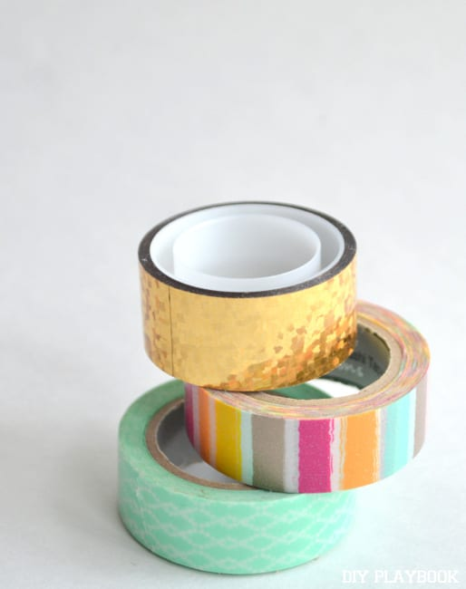 Washi tape comes in tons of fun patterns and colors.
