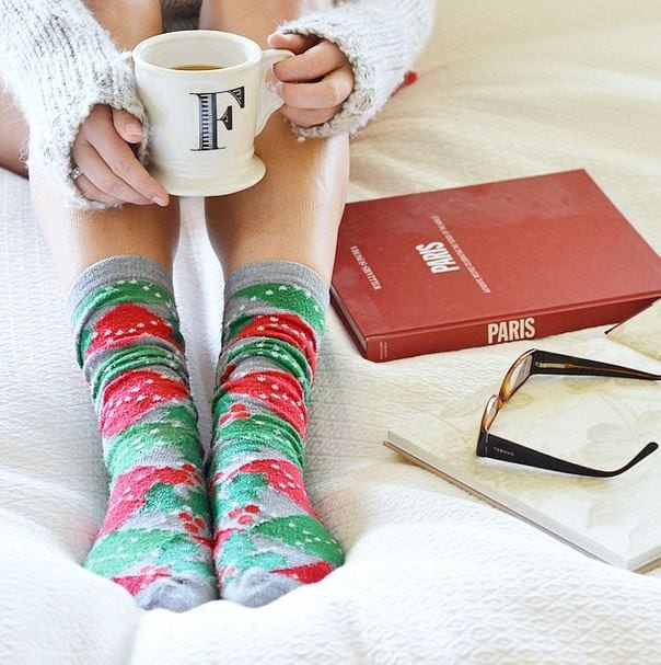 christmas socks coffee