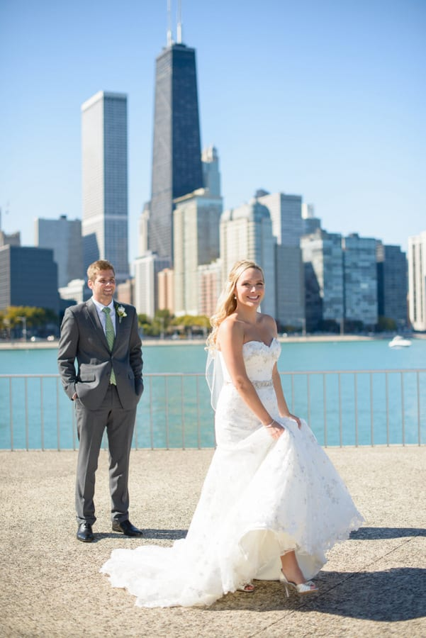 Olive Park is such a great Chicago photo spot, especially for weddings!