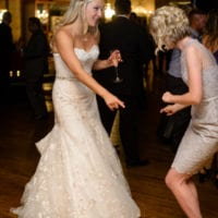 Dancing with the bride at a wedding is always a good time.