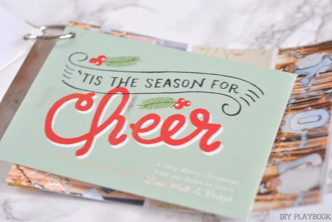 Our Christmas Card book idea is a great way to revisit your Christmas memories all year long! And it's a really simple DIY craft!