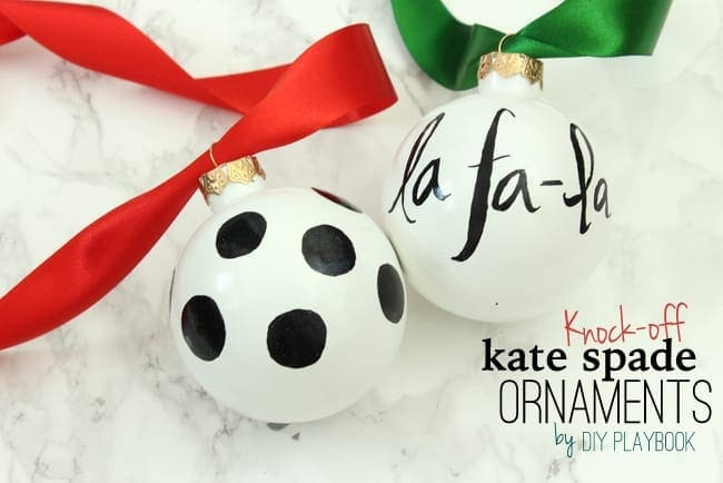 kate spade ornaments