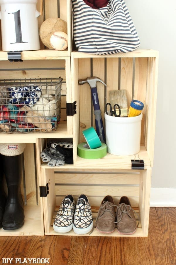 Crate storage works in any space and can be customized.