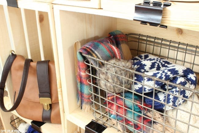 Easy and cute DIY Crate storage.