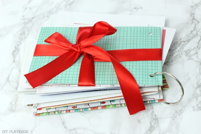 How to save your old christmas cards: Christmas Card Book | DIY Playbook