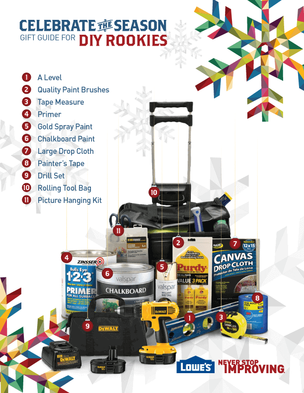 The ultimate DIY rookies gift guide from Lowe's