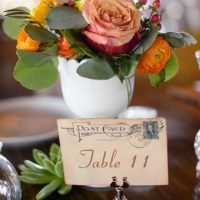 These table cards are vintage inspired and elegant.