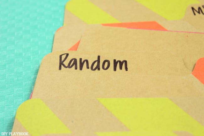 Create a random folder for all the stuff that's well...random!