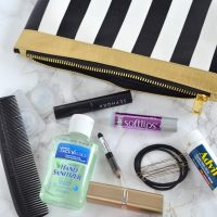 Add a small bag to hold your make up