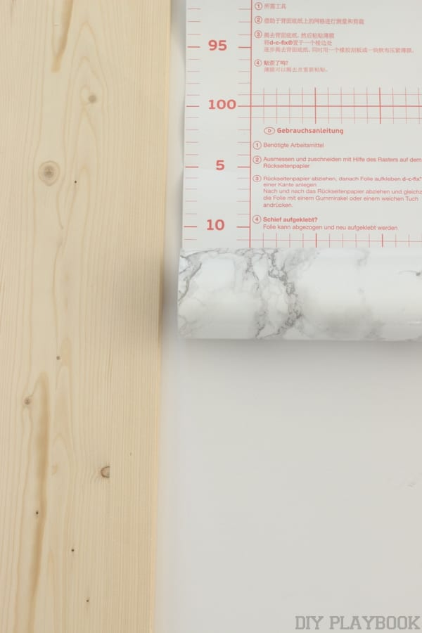 This marble contact paper will easily update the shelf