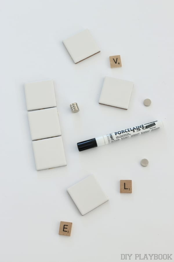 How to make scrabble tile magnets for your fridge!