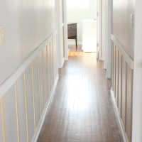 Board and Batten Hallway Progress: All that's missing from this DIY project is the paint!