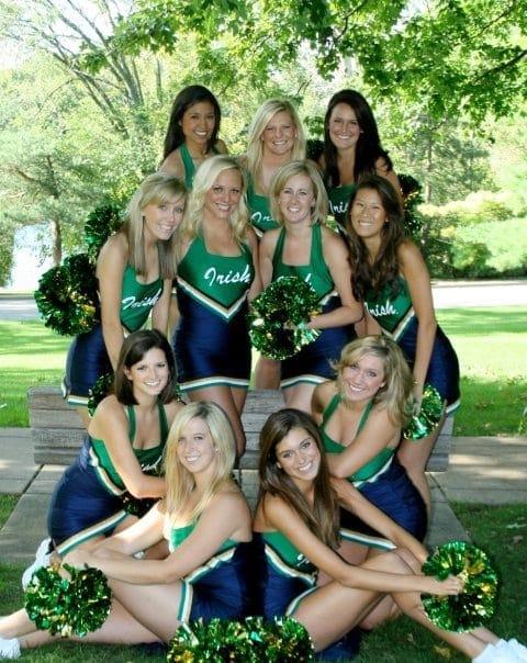 Notre Dame pom squad