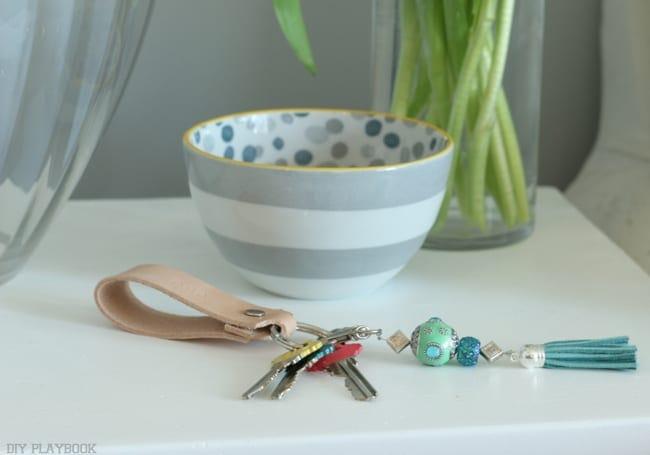 Color Coded: DIY Tassel Keychain Quick Easy DIY Project   DIY Playbook