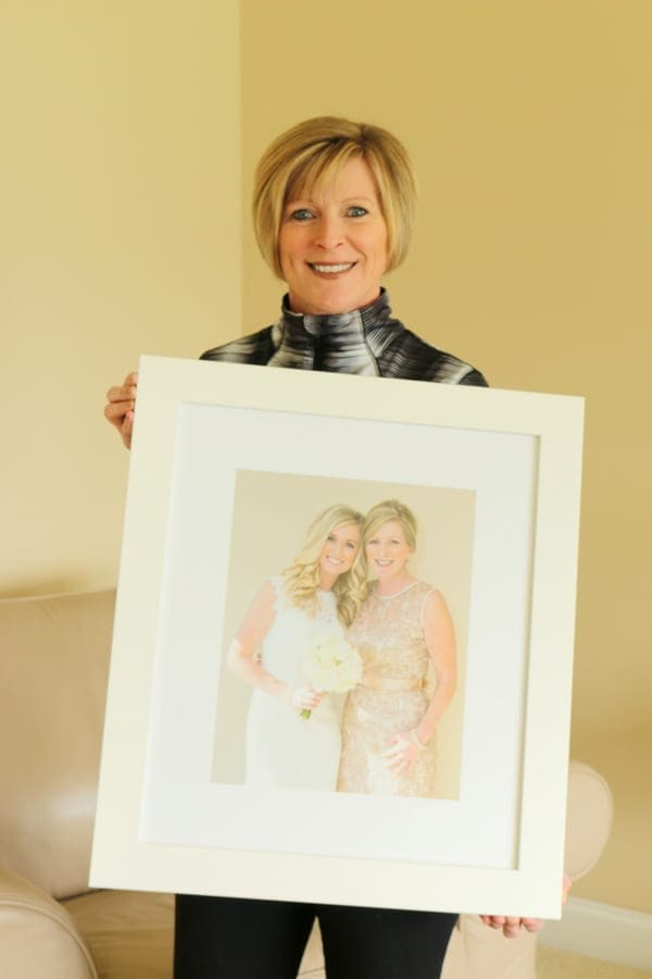 bridget's mom with her favorite wedding day photo
