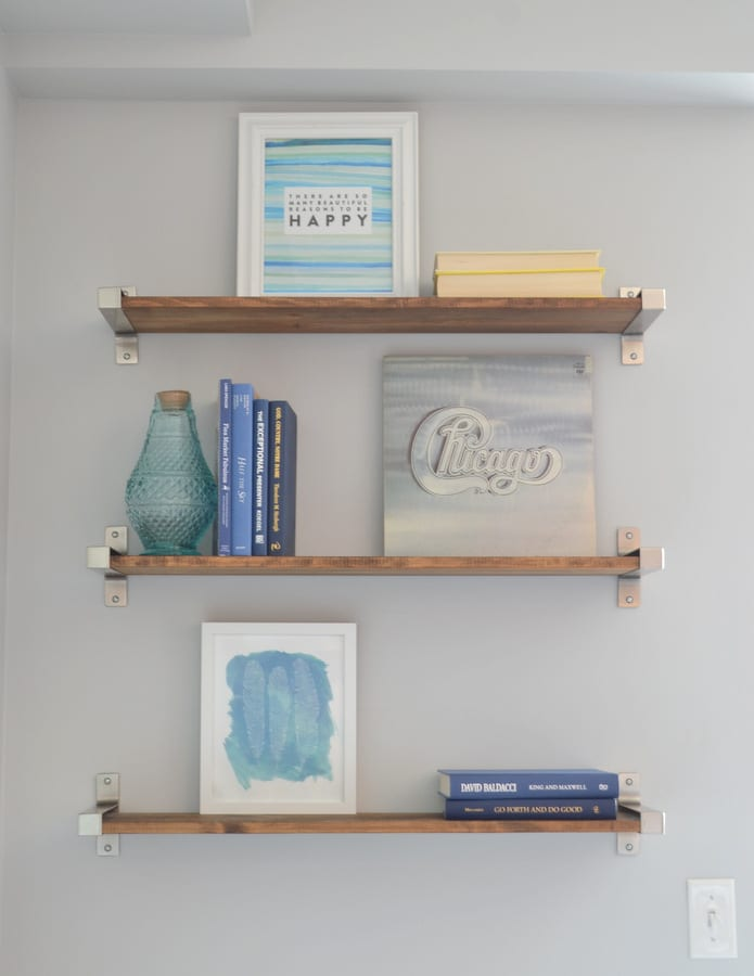Add books to your shelf in small groupings.