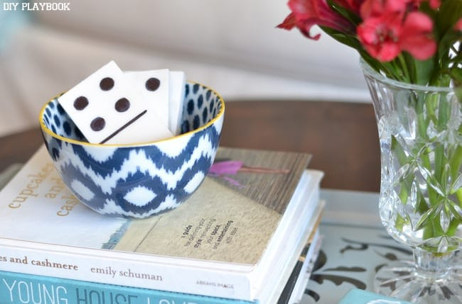 These DIY domino tiles make for great coffee table decor.