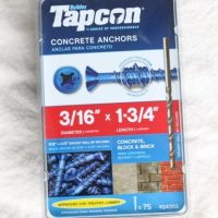 These concrete anchor screws are durable.