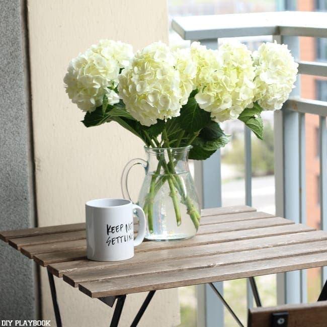 maggie balcony outdoor coffee flower