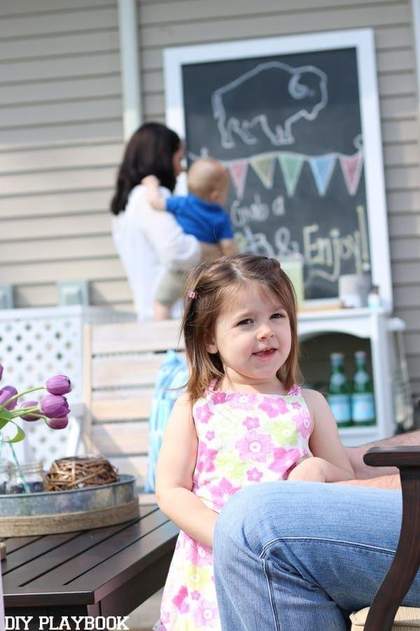 Kids enjoying a patio