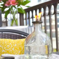 This patron bottle candle is a fun Father's Day gift.