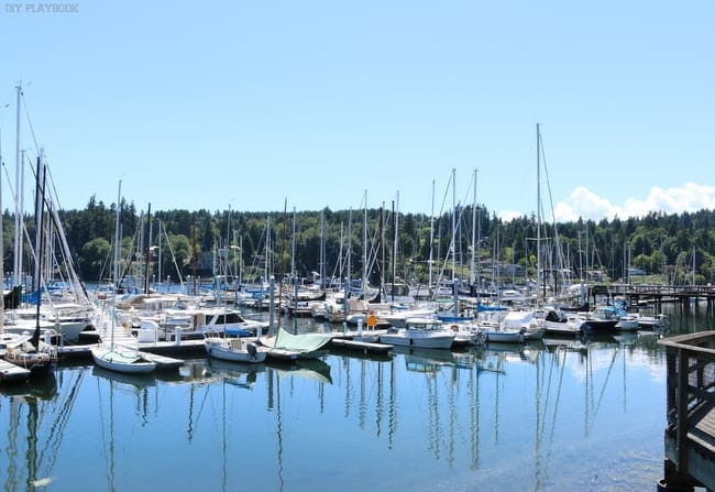 Seattle Weekend Recap: The Marina at Bainbridge Island.