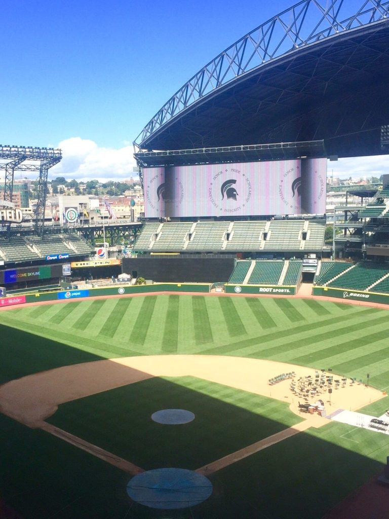 Seattle Weekend Recap: The boys took a tour of the Safeco Stadium while we were working.