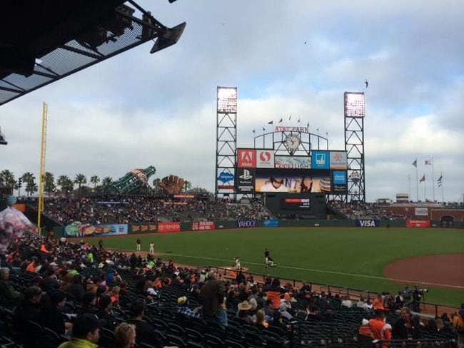 AT&T Park and a Giants game