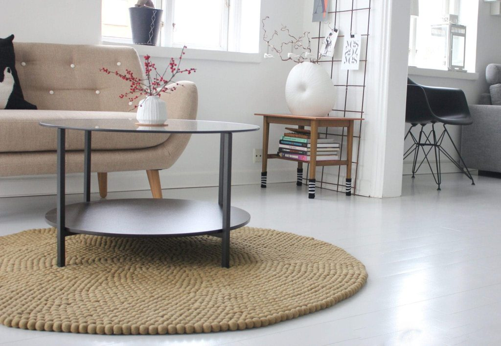 felt ball rugs are popular area rugs that look great with many design styles