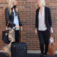 Bridget and Casey ready to travel.