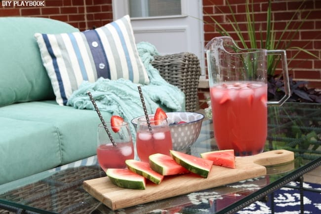 patio watermelon drinks