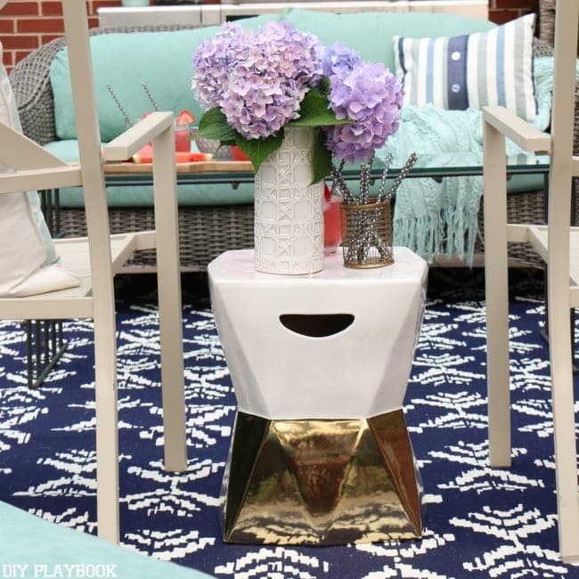 Last stop on the small house home tour is the patio!