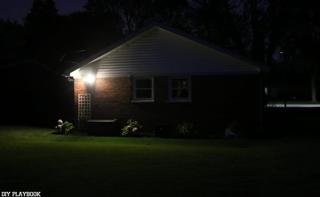 night backyard light
