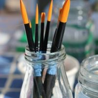 Paint brushes for crafts at the Michaels Maker Summit