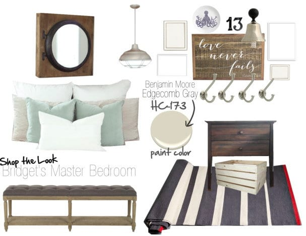 Shop the look Bridget's bedroom