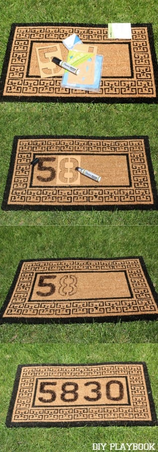 Step By Step Personalized Doormat Tutorial