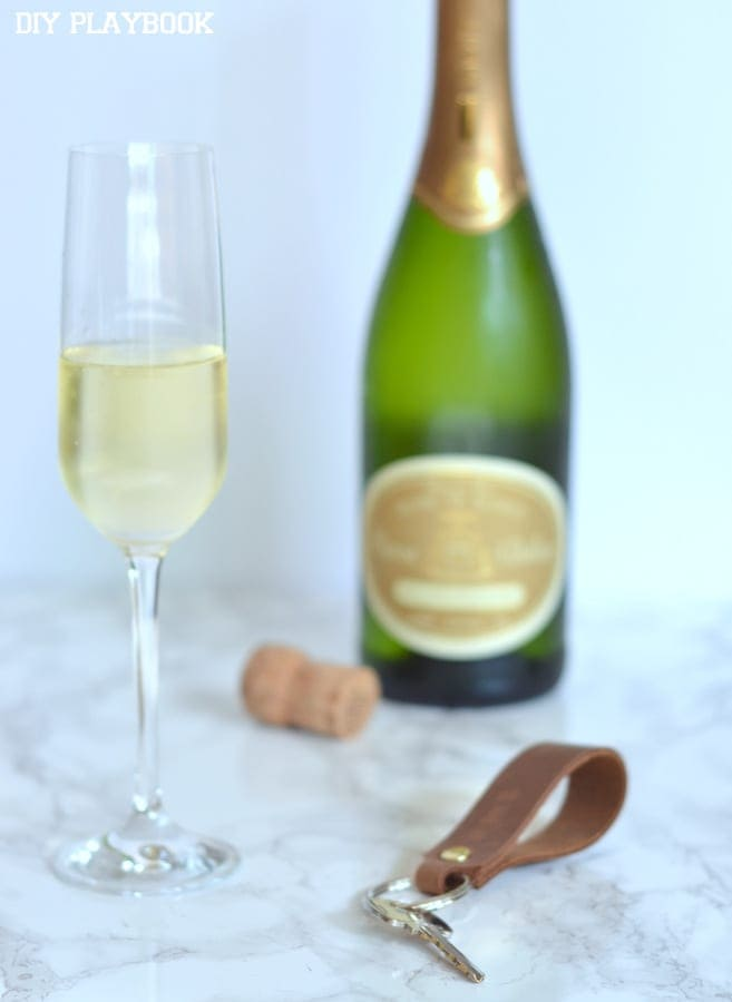 Champagne is the perfect way to celebrate a new house