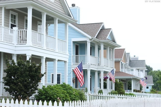 American FlagSt. Joe's Michigan Exterior Home