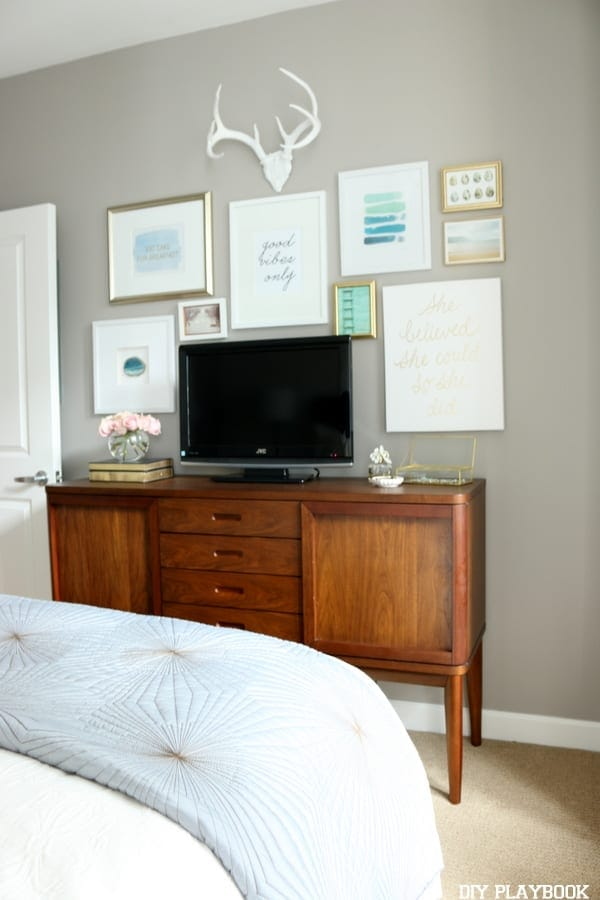 How to Build a Gallery Wall around a TV | DIY Playbook