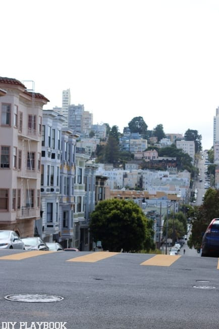 The many hills of San Francisco, California are a pretty sight to see.