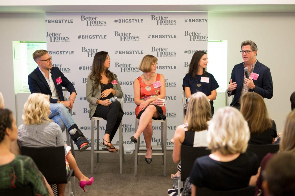 The editor panel at the better homes and gardens event