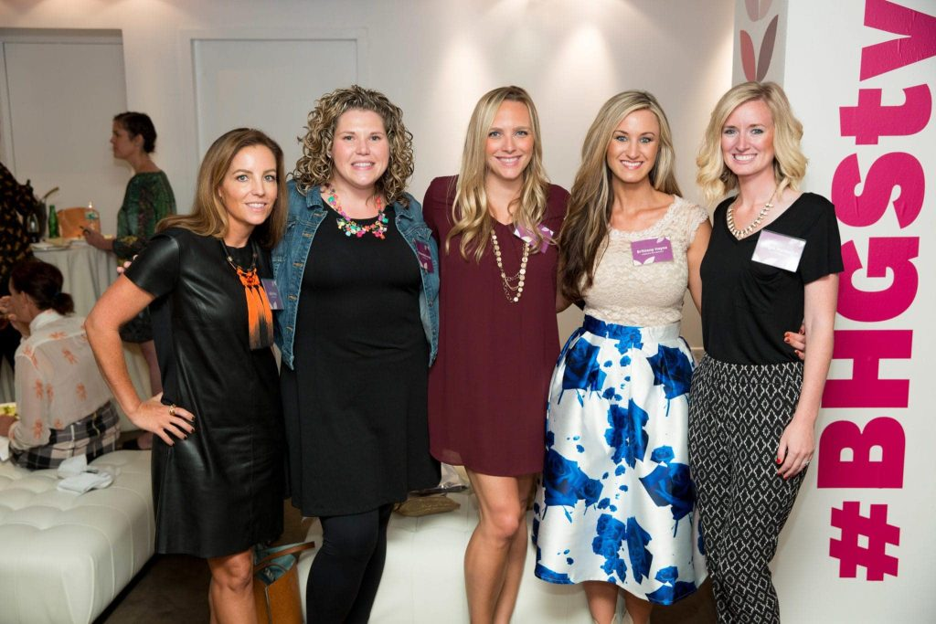 Bridget and Casey with blogger friends at the Better Homes and Gardens event