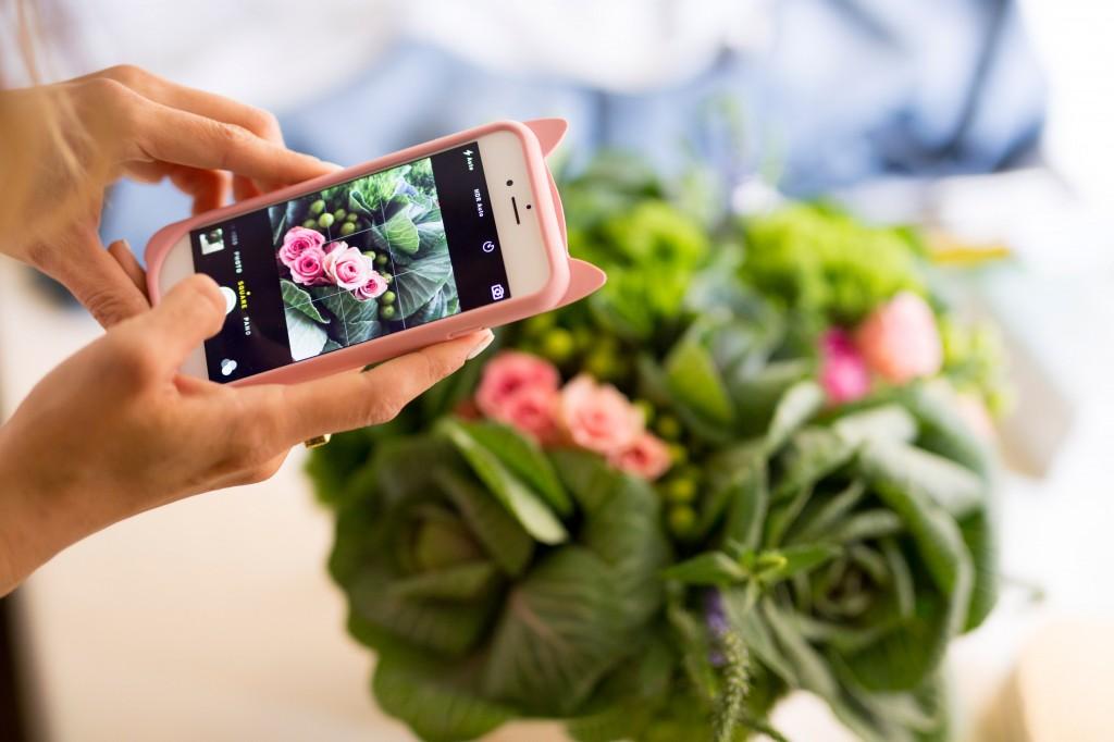 flower phone camera nyc bhg