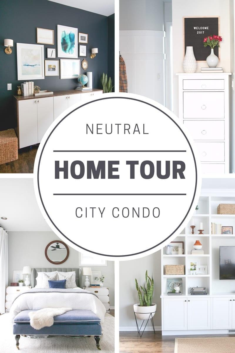 City Condo Home Tour: Chicago Condo Tour| DIY Playbook