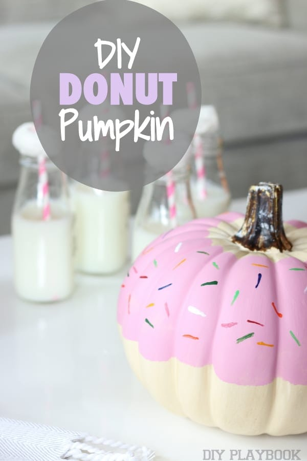 Want to know how we got this adorable donut look on our craft pumpkin? Check out or DIY tutorial!
