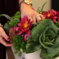 putting together gorgeous centerpieces