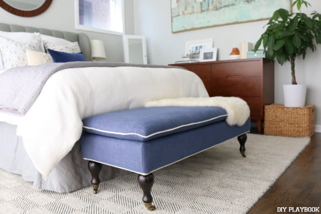 08-navy-upholstered-bench-lulu and georgia-master-bedroom