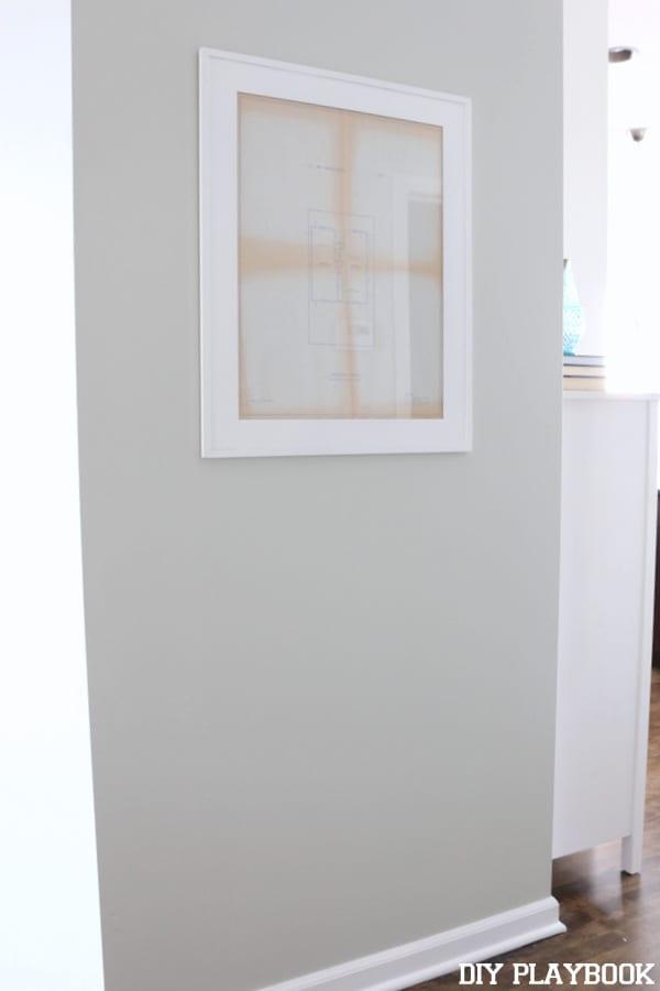Framed Work: Framed Home Blueprint Art | DIY Playbook