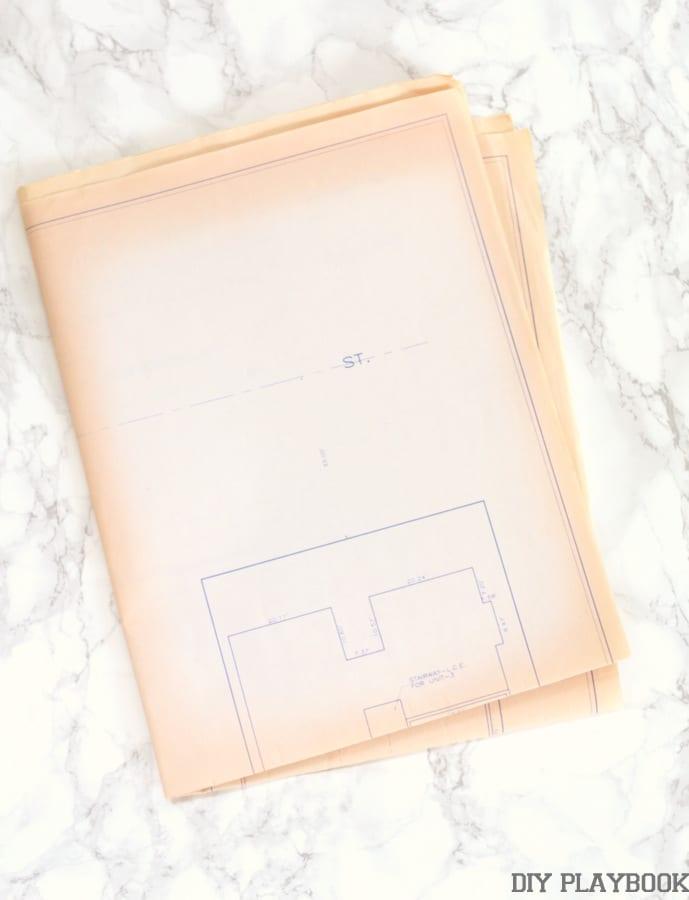 Blueprints of Building: Framed Home Blueprint Art | DIY Playbook