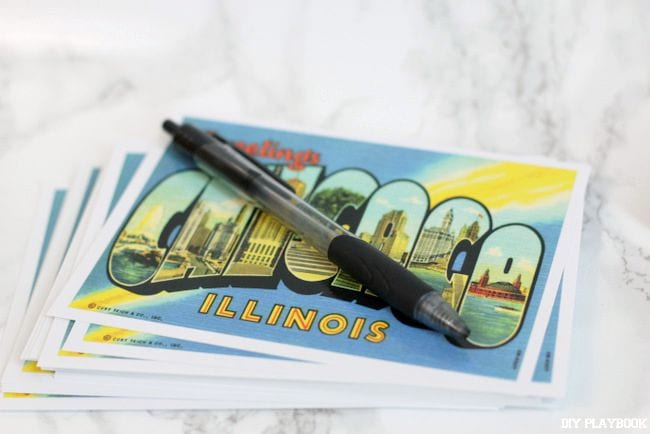 You just need to add addresses to your postcards for your new-home announcements.